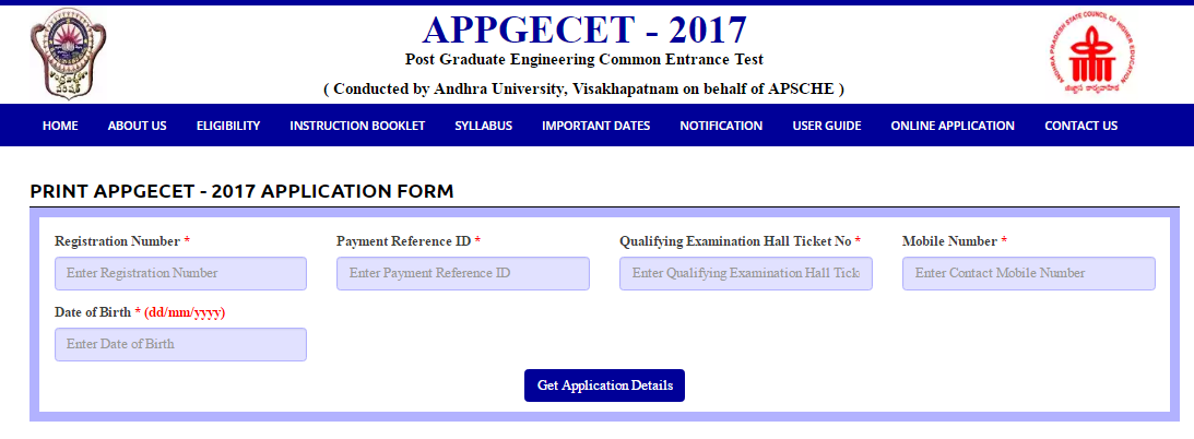 APPGECET Application Print